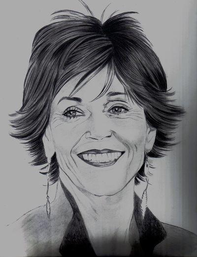 Jane Fonda by roger